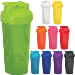 shaker style drink bottle available in a range of bold colours