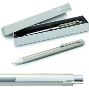 stunning Lamy Econ pen made in stainless steel. with shiny polished fittings