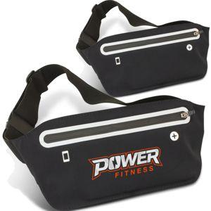 black waterproof running belt shown printed and plain