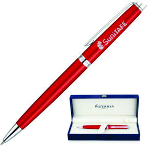 quality Waterman Hemisphere pen in bold Comet Red