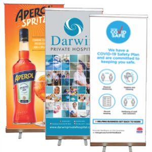 range of custom printed banners showing various artwork