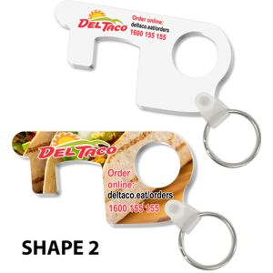 custom made door opener keyring, shape 3