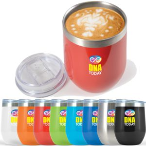 metal thermal travel cup in a wide range of bold colours