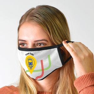 custom printed 3 ply cotton face mask
