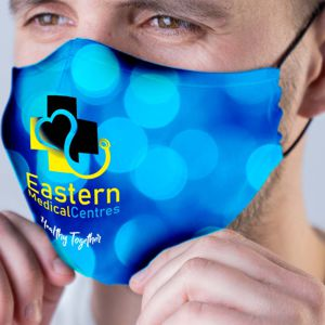 full colour sublimation printed face mask