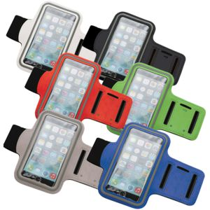 mobile phone armband shown in a range of colours