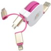 3-In-1 Metal Retractable Charging & Data Cable