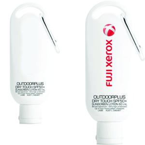60ml Australian made sunscreen with carabiner clip & custom printed Fuji logo
